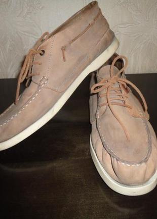 Мужские туфли , ботинки из мягкой кожи фирмы marc o´polo. размер 44
