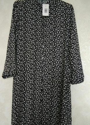 Актуальное платье рубашка в цветочный принт бренда papaya,размер 12