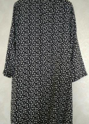 Актуальное платье рубашка в цветочный принт бренда papaya,размер 122