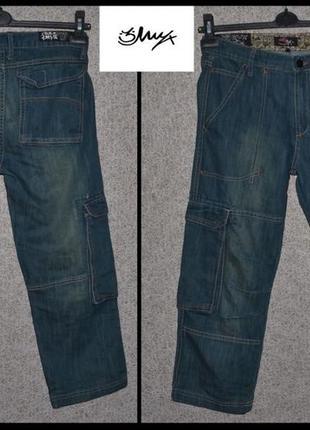 Брендові бріджі джинсові жіночі 3myx s [пакистан] (брюки женские)