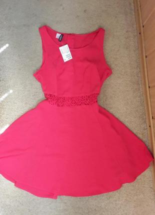 Платье с кружевом от h&m