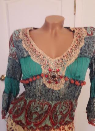 Платтяной костюм, 38-40, г-90, талия юбки -85, длина блузы 57, рукав 46, дл юбки 932