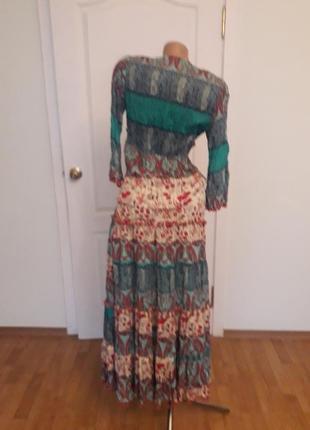 Платтяной костюм, 38-40, г-90, талия юбки -85, длина блузы 57, рукав 46, дл юбки 934