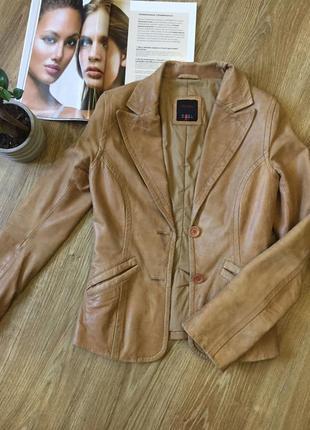 Дублёнка куртка осень под кожу коженная