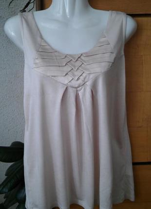 Блузка-футболка пудрового цвета