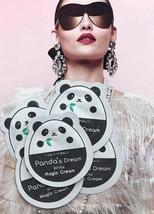 Пробник 10 шт досветляющий крем для лица panda's dream magic cream , корея оригинал!
