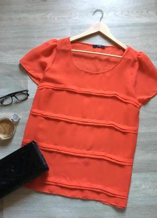Яркая летняя блуза из шифона