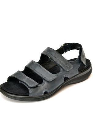 Кожаные сандалии ecco shoсk point. стелька 23 см
