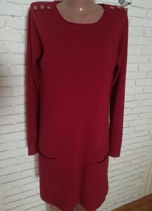 Туника//платье, цвет марсала.