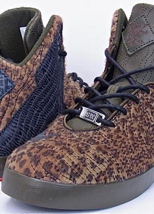 Nike lebron 11 nsw lifestyle leopard edition men's shoes  размер 13