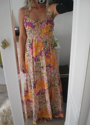 H&m: яркое платье макси из хлопка. вторая покупка - 50 %