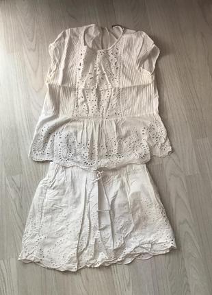 Летний костюм (юбка+майка)