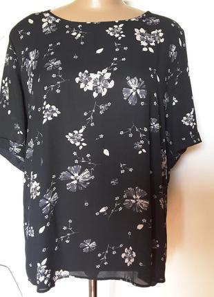 Креп-шифоновая  блуза в 2-× уровнях