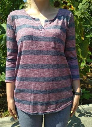 Трикотажная легкая кофта джемпер свитер в полоску от papaya