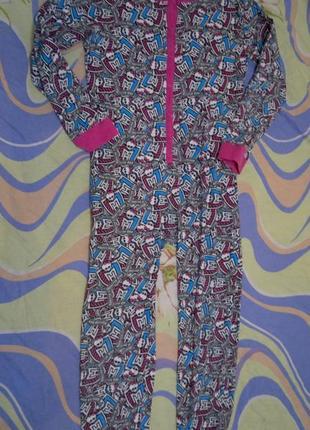 Пижама комбинезон слип человечек на 13-14 лет рост 158-164 см 6521dd5895d12