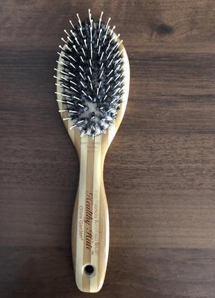 Деревянная расческа для волос щетка с натуральной щетиной дикого кабана