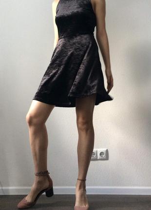 Бархатное платье h&m/ платье с открытой спиной