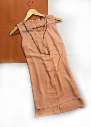 Блуза безрукавка удлиненная с разрезами по бокам