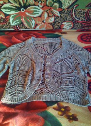 Вязане балєро.