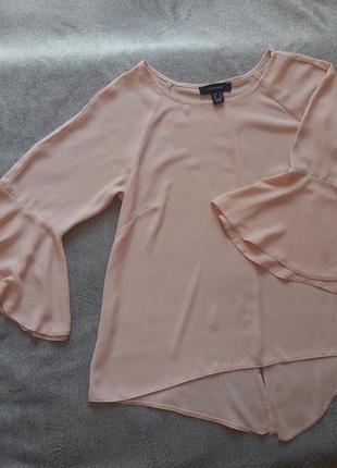 Персиковая блуза с рукавами-воланами atmosphere