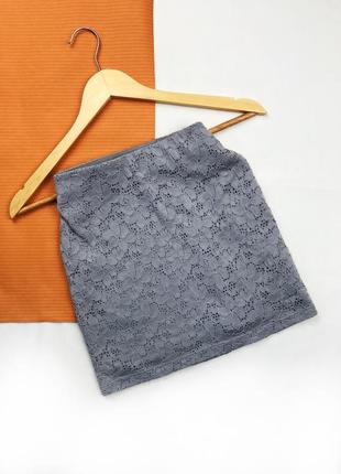 Юбка приталенная мини-юбка