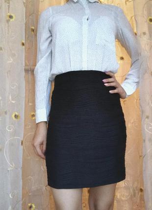 Черная юбка-карандаш only
