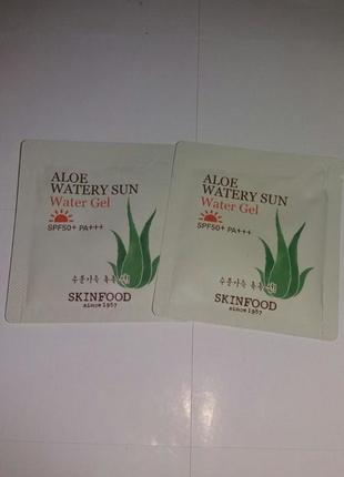 Солнцезащитный гель с экстрактом алоэ вера skinfood