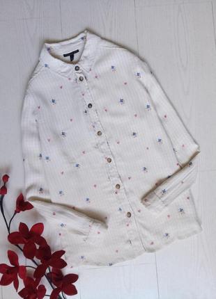 Блуза/ рубашка с вышивкой topshop