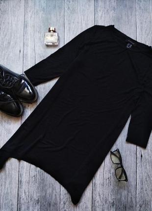 Ассиметричное черное платье туника от atmosphere