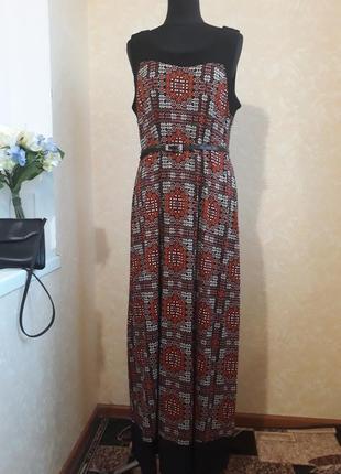 Оригинальное длинное платье wallis