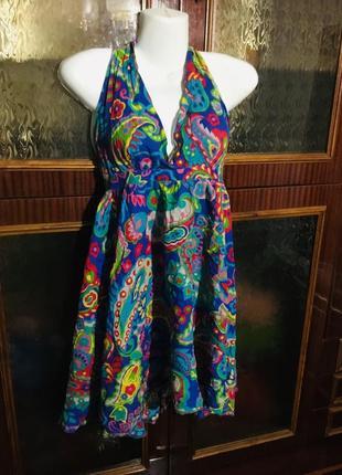 Плаття платье летнее короткое яркое интересный рисунок