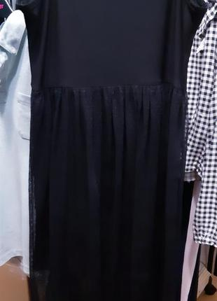 Платье миди с сеткой от zara.