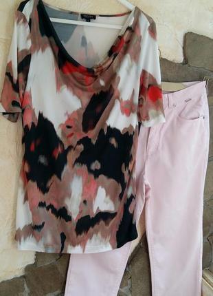 Escada sport удлиненная нарядная футболка блуза , вискоза л