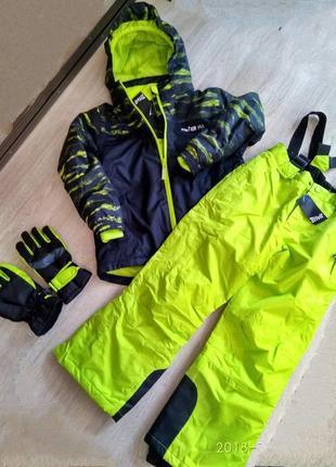 Красивый зимний мембранный термо-костюм crivit 8-10 л. 134-140 и 10-12 л. 146-152
