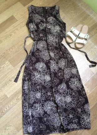 Літнє максі плаття-сарафан