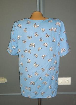 Блуза кофточка прямого кроя с бабочками2