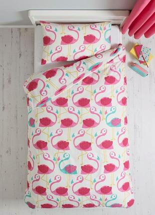 Постельный детский комплект с фламинго для малышей  felicity некст next