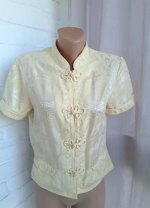 Шелковая блуза в восточном стиле  monsoon