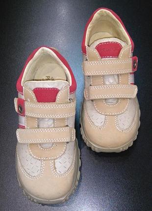 Кроссовки из натуральной кожи primigi бежевые, р. 30 (19,5 см.)