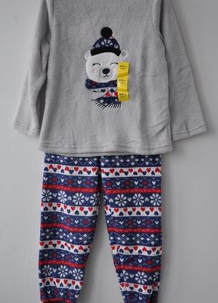 Пижама плюшевая на 3 или 3-4 года primark