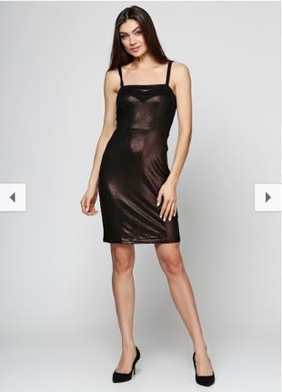 Платье черное золотистое even & odd