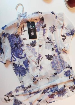 Нереально красивая блуза на запах aurela