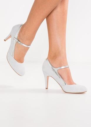 Нежно-голубые .замшевые туфли pier one размер 41