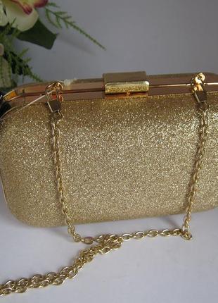 f032656ee796 Клатч сумочка на цепочке золотая Accessorize, цена - 399 грн ...