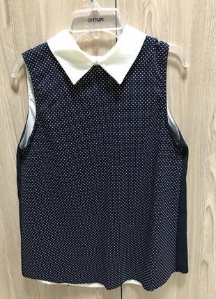 Школьная блуза с воротничком