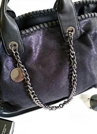 Крутая женская сумка бренд lookat accessories на коротких ручках
