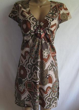Туника, платье-мини в принт atmosphere