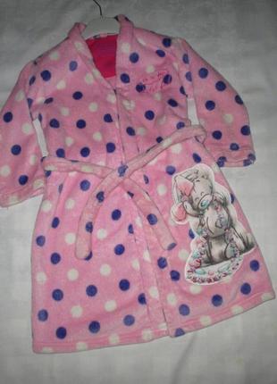 Махровый халат от marks&spenser, рост 110-116-122 см