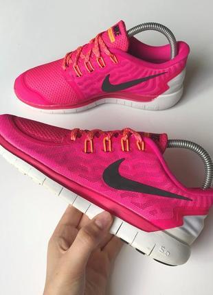 Спортивные кроссовки nike free run 5.0 original розовые,женские 38 беговые air