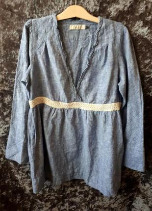 Льняная туника / блуза из льна